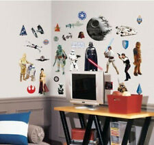 STAR WARS classic wall stickers 31 decals VADER YODA C3P0 R2D2 room decor