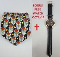 ERMENEGILDO ZEGNA Pure Silk Necktie ITALY Blue - Bonus Free Watch Octavia