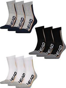 HEAD Unisex Performance Short Crew Socks Mens Womens Sports Sock 3 Pairs
