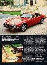 1985 Jaguar XJS XJ-S V12 Original Advertisement Print Art Car Ad J751