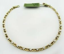 WHITE SAPPHIRES 2.41 Cts TENNIS BRACELET 10K YELLOW GOLD ** New With Tag **