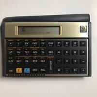 Hewlett Packard HP 12C Financial Calculator with Case Tested Working Vtg Gold