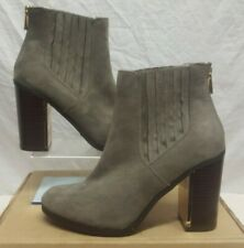 NEW LOOK HEELED ANKLE BOOTS GREY BACK ZIP CHELSEA BOOT SIZE 6 EUR 39 RRP £29.99