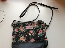 CATH KIDSTON BLACK LEATHER KINGSWOOD ROSE ACROSS BODY BAG  IMMACULATE CONDITION