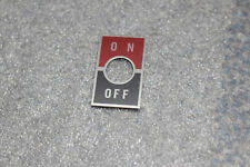 NKK Toggle Switch Legend On Off 12mm Aluminum Plate AT215 Red Black