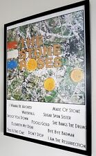 The Stone Roses Luxury Framed Poster Ian Brown-Oasis LARGE