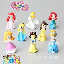8X Disney Princess Snow White Cinderella Belle Ariel 6cm Action Figures SET Cute