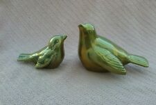 Vintage Brass Robin Bird Figurines Set of 2 Excellent Used Condition
