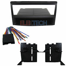 Single DIN with Pocket Radio Replacement Dash Kit with Harness for Kia Spectra