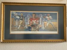 Joe Montana Retirement Fine Art Lithograph by NFL Artist Merv Corning