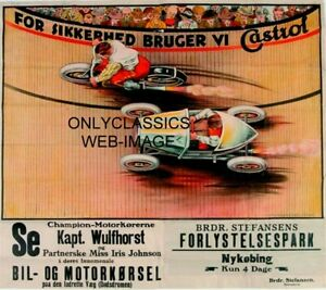 1930s WALL OF DEATH DAREDEVIL MOTORCYCLE MIDGET RACING CAR POSTER PRINT GRAPHICS