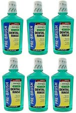 Lot of 6 ASSURED Pre Brush Mint Flavor Dental Rinse 16 oz SEALED Comparable To P