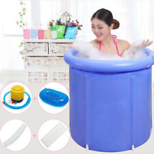 US Folding Bathtub Portable PVC Foldable Water Place Tub Room Spa Massage Bath