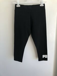Puma Essentials 3/4 Leggings Tight Fit Black - UK10