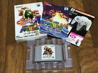 Nintendo 64 Super mario 64 Rumble Pak Version N64 W/Box manual game Japan