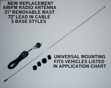 Brand New OLD STOCK Replacement AM/FM Radio Antenna Universal with 5 Base Styles