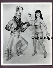 Burlesque Couple Stripper Snake Man Dancer 1970 Original Nude Pinup Photo C129