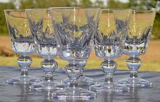 Saint Louis - Service de 6 verres en cristal taillé, modèle Jersey. H. 10,2 cm