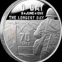 Heroes Series SDWC D-Day 1 oz .999 Silver BU Round USA Made WWII Capsuled Coin