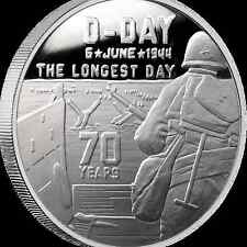 Heroes Series SDWC D-Day 1 oz .999 Silver BU Round USA Made WWII Bullion Coin