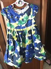 Baby Gap Little Girl's Toddler Size 4 4T Blue Yellow Green Dress