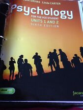 Psychology For The VCE Student Units 1&2 ,6th Edition. Freepost (lor)