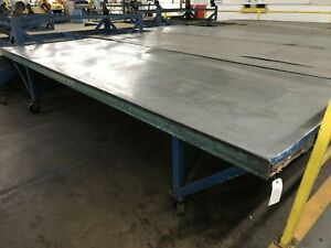 Industrial Rolling Metal Table straight from factory floor