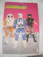 POSTER MINI  PUBBLICITARIO ADVERTISING MATTEL 1985 GLOBAL COMMAND + PUBBLICITA
