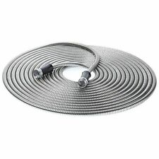304 Stainless Steel Metal Garden Hose Lightweight Kink 50ft