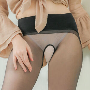 Ladies Stockings Transparent Seamless Ultra-Thin Sexy Pantyhose Crotchless Socks