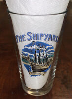 THE SHIPYARD BREWING COMPANY BEER PINT GLASS PORTLAND MAINE NAUTICAL BRAND BOAT