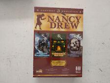 2 Coffrets Nancy DREW 1/2/4/5/6 horloge/blue moon canyon/crane cristal  PC FR