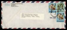 DR WHO 1978 GUYANA AIRMAIL TO USA ADVERTISING IBM  f51768