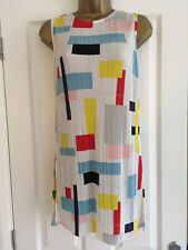 BNWT NEXT Ladies Multi Geometric Pleated Sleeveless Tunic Size 6