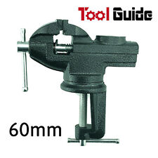 60mm HD 360º Swivel Portable Table Bench Vice Clamp Mini Vise Anvil Cast sale
