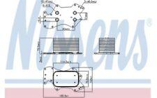 NISSENS Radiador de aceite motor 90911