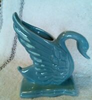 Vtg Royal Haeger Swan Vase Planter R430 Pale Blue Ceramic Bird Figurine USA
