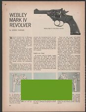 1970 WEBLEY Mark IV Revolver Exploded View Parts List 2-pg Assembly Article