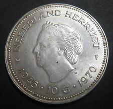 PAYS-BAS 10 GULDEN 1970 REINE JULIANA - NEDERLAND HERRIJST 1945-1970 -ARGENT N°2