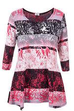 Geblümte hüftlange Damenblusen, - tops & -shirts in Übergröße für die Freizeit