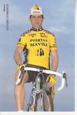 CYCLISME carte cycliste manuel GUIJARRO DOMENECH équipe PUERTAS MAVISA 1992