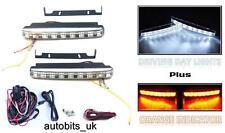 LED DRL Daytime Running Lights + Turn Signal Indicators 160mm car + WIRING KIT