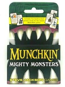 Munchkin Mighty Monsters Board / Card Game (Includes 5 RARE Cards) Stand-Alone