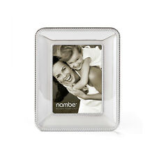 NAMBE Picture Frame MT0643 Braided Edge 5X7 Handcrafted Chrome BEAUTIFUL