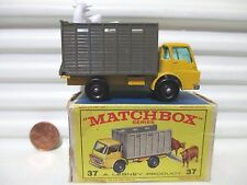 Lesney Matchbox 1966 RW37C DODGE CATTLE TRUCK BROWN Box Mint in Good Picture Bx