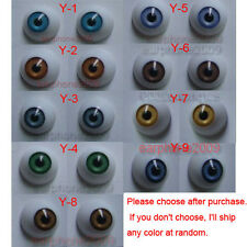9 Pairs 18mm HALF ROUND ACRYLIC REBORN DOLL EYES for Reborn/BJD/OOAK Doll eyes