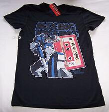 Transformers Soundwave Mix Tape Mens Black Printed T Shirt Size XXS New