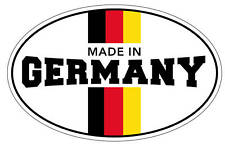 OVAL MADE IN GERMANY STICKER VW GTI by oilcanstickers 100mm