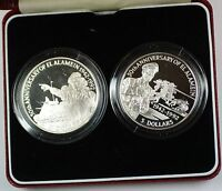 1992 Belize 5 Dollar Silver Proof Coins Set 50th Anniversary of El Alamein