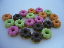 20 Loose Mix Pon De  Ring Donut Dollhouse Miniatures Food Bakery Supply